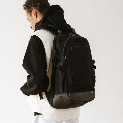 WASHED CORDURA 28L BACKPACK - BLACK