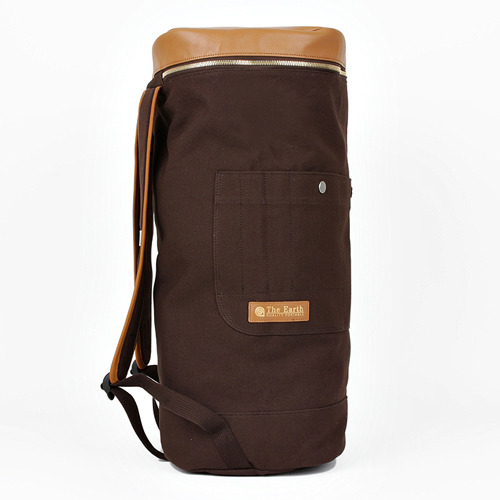 CANVAS DUFFLE BAG BROWN