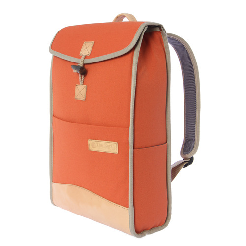 CANVAS SQUARE RUCKSACK-ORANGE